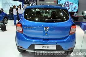 renault sandero stepway 2015 2016 dacia sandero stepway with easy r amt rear at the iaa 2015
