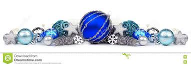 blue and silver ornament border white stock photo