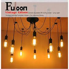 Industrial Lighting Chandelier Fuloon Industrial Vintage Chandelier Light 14 Ceiling Pendant