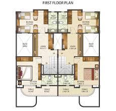 row home floor plan impressive modern row home floor plan 14 house plans 4 plex building