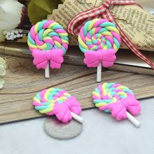 cute desserts 27 42mm cute clay lollipop clay desserts d i y miniatures play