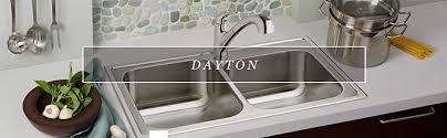 dayton elite sr kitchen sink dayton dse233224 equal double bowl top mount stainless steel sink