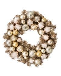 gold metallic ornament artificial wreath treetopia
