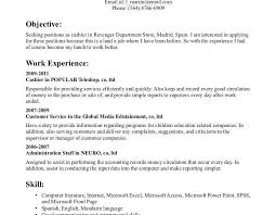 cashier sample resume unforgettable part time cashiers resume