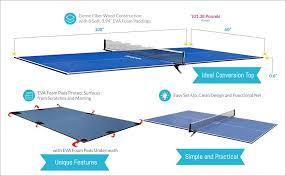 best table tennis conversion top amazon com harvil table tennis conversion top with free net and