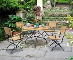 Garden Bistro Table Teak Bistro Table And 4 Chairs Garden Bistro Dining Set