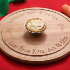 personalised round christmas cheese board the gift experience