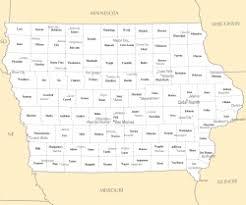 map of iowa towns iowa county map mapsof