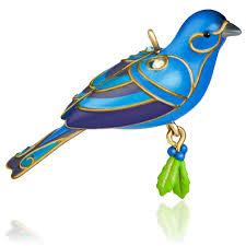blue bunting bird ornament blue bunting