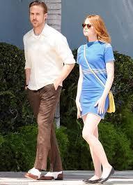 ryan gosling emma stone couple film emma stone and ryan gosling go on a date for their movie la la land