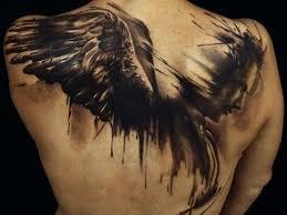 emotional angel back tattoos tattoozza