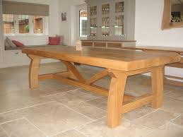 Dining Table Oak Popular Oak Dining Table Intended For Rustic Set And Designs 12