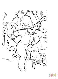 billy rides his fire truck coloring page free printable coloring