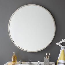 framed bathroom mirrors brushed nickel metal framed round wall mirror brushed nickel frame mirrors and