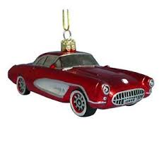 new kurt adler chevroletâ glass 1957 corvette ornament ebay