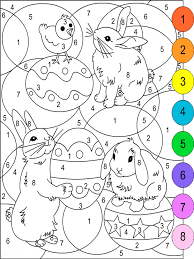 color by numbers coloring pages download and print color by