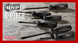 craftsman craftsman extreme grip 6 piece screwdriver set youtube