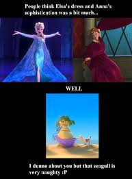 Disney Frozen Meme - frozen naughty seagull meme by gleamdragon on deviantart