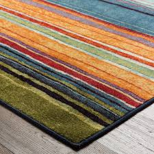 Multi Color Area Rugs Amazon Com Mohawk Home New Wave Rainbow Striped Printed Area Rug