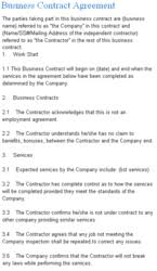 laws com announced the release of business contract agreement template
