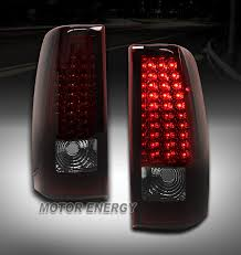 2004 silverado tail lights 03 06 chevy silverado 04 06 gmc sierra led tail lights red smoke