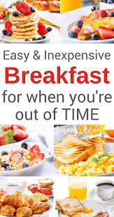 breakfast ideas for when you u0027re out of time and cereal