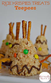 rice krispies teepee treat for a kid friendly thanksgiving