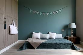 d馗o chambre bleu canard élégant chambre bleu canard deco