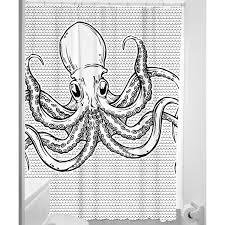Sourpuss Shower Curtain Octopus Shower Curtain From Sourpuss At Beadesaurus Free Uk