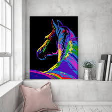 pop art horse canvas fortune hopkins homeware and ceramics pop art horse print horse gift horse decor horse lover horse art