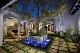 Bella Terra Landscape by Terra Bella Landscaping Development Night Courtyard Luxesource