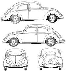 volkswagen beetle 1952 blueprints pinterest beetles