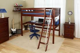 Couples Computer Desk Bedroom Best Soft Blue Loft Bed Double On The Top Connected