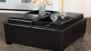 amazing coffee table with storage ottoman inside storage ottoman