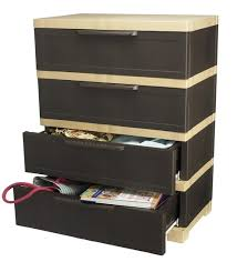 nilkamal kitchen furniture nilkamal chester 14 with 4 drawers weather brown and biscuit by