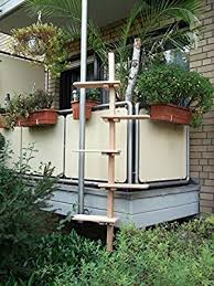 katzenleiter balkon www de katzentreppe katzenleiter douglasie massivholz
