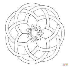celtic knotwork design coloring page free printable coloring pages