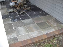 Flooring For Outdoor Patio Creative Decoration Outdoor Patio Tiles Over Concrete Stunning