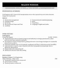 Examples Of Skills To Put On A Resume by Best Civil Engineer Resume Example Livecareer
