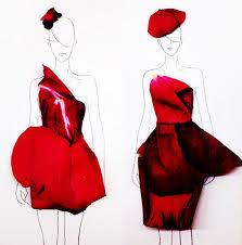 designer turns real flower petals into fashion illustrations