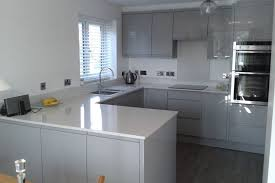 kitchen decorating grey floors white cabinets grey and white