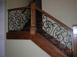 ornamental iron railing outdoor fence