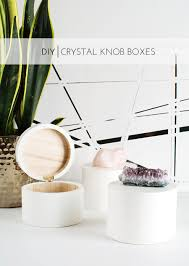 diy crystal knob boxes homey oh my