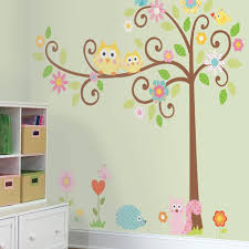 Owl Decorations For Home by Amazon Com Roommates Rmk1439slm Scroll Tree Peel U0026 Stick Wall