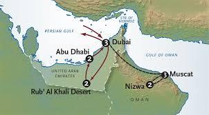 rub al khali map dubai vacation united emirates