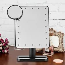 ovonni 10x magnifier led touch screen makeup mirror portable 20