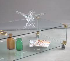 Table Basse Verre Roulette Industrielle by Grande Table Basse En Verre Et En Laiton Sur Roulettes 1970s En