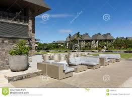 Outdoor Sitting Area Outdoor Seating Of Cafe Lounge Stock Photography Image 31463042