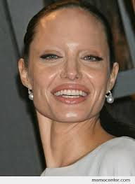 Angelina Meme - angelina jolie without eyebrows by ben meme center