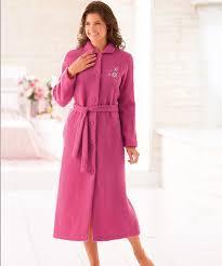 robe de chambre en courtelle robe de chambre courtelle 127 cm bleu femme damartsport